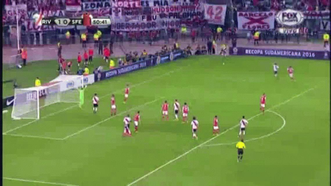 Con éstos goles, River venció al Santa Fe y ganó una nueva Recopa Sudamericana