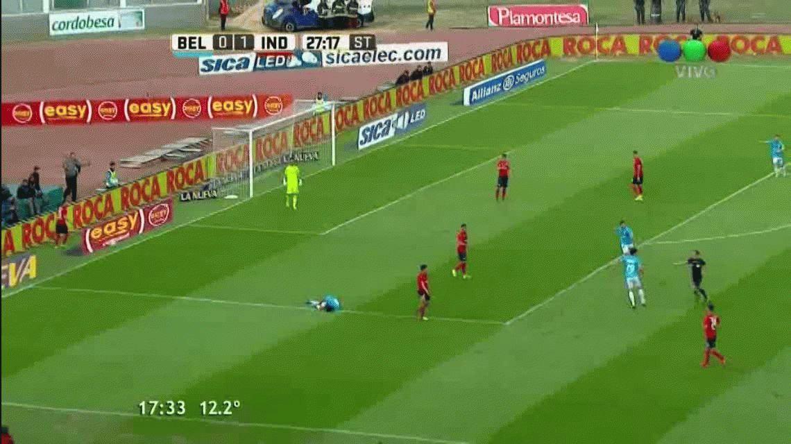 ¿Adentro o afuera? La gran polémica que reclamó todo Belgrano ante Independiente