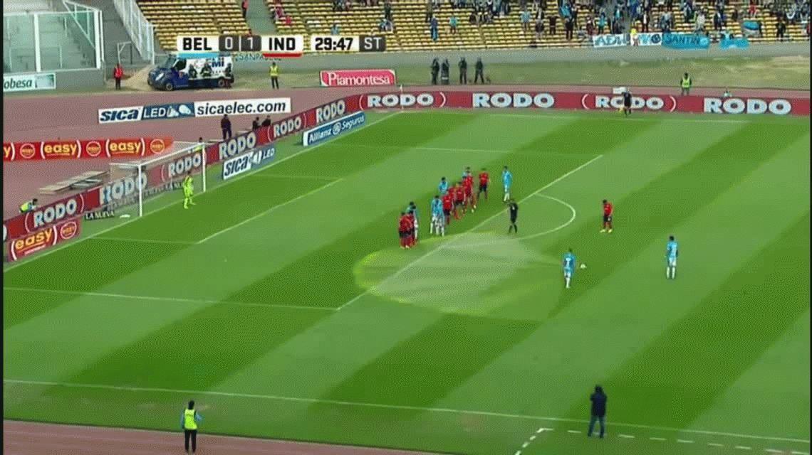 Rigoni internado: olvidó el gol que había hecho por un fuerte pelotazo en el rostro