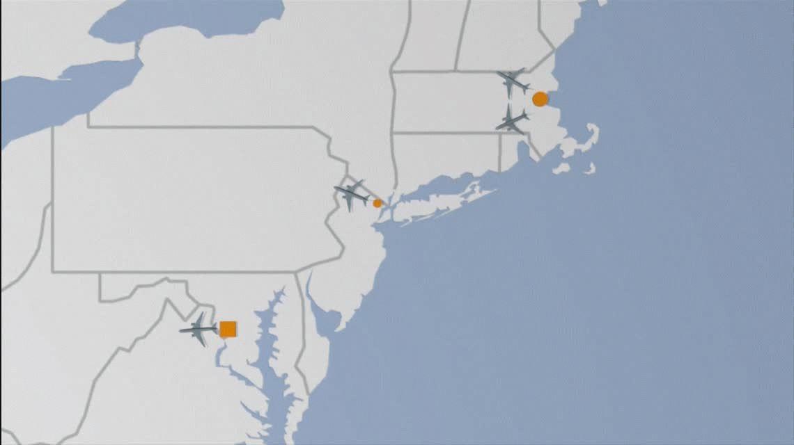 Los ataques del 11-S (Gráfico de AFP)