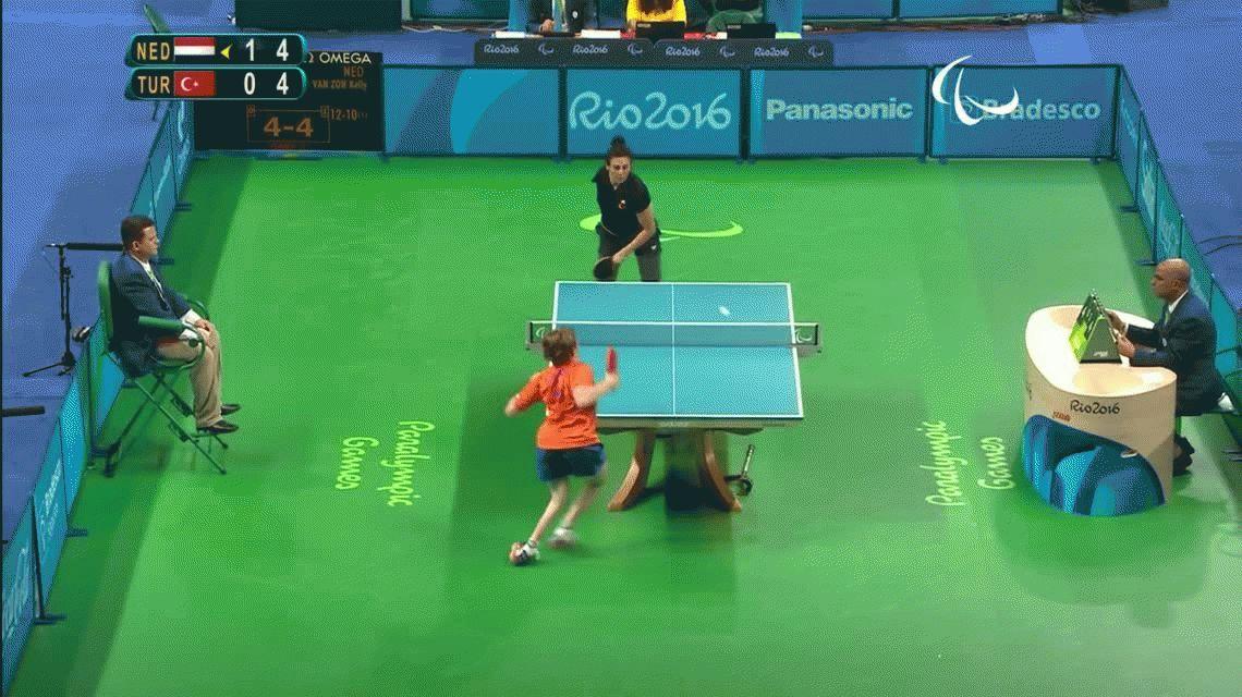 El punto que maravilló a todos en el tenis de mesa de los Juegos Paralímpicos