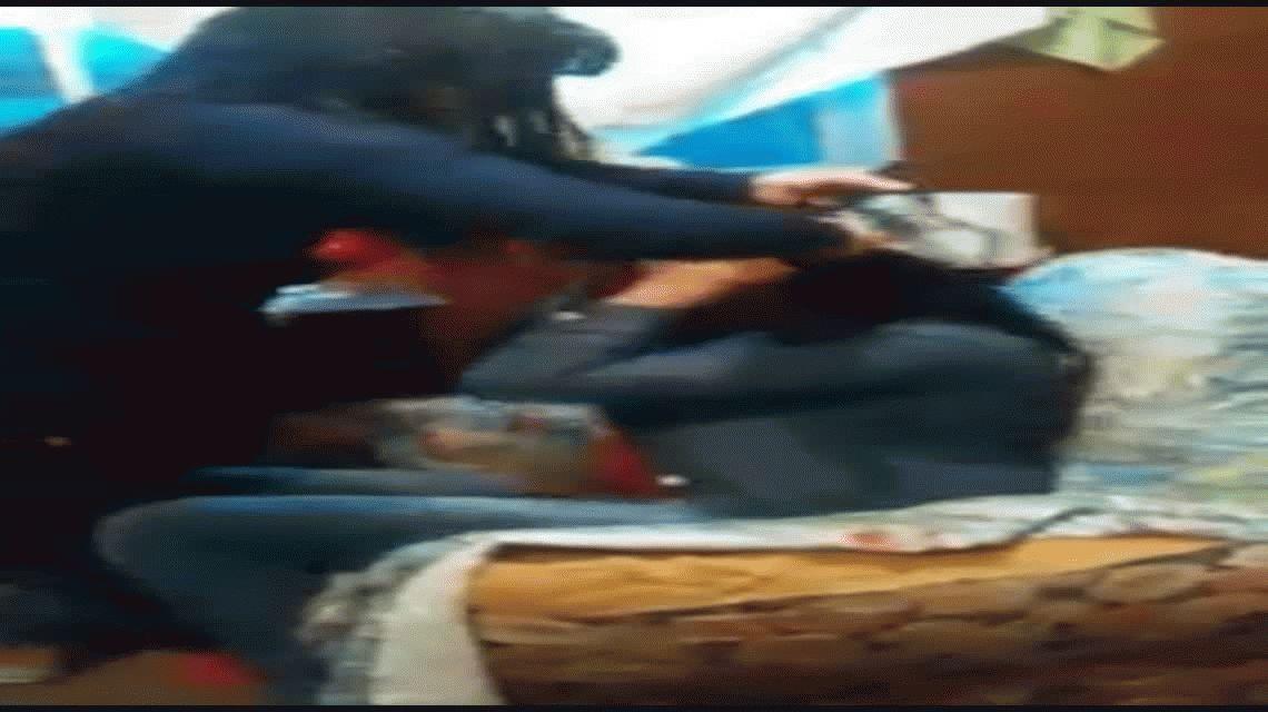 VIDEO: El violento ataque de una mujer despechada en Junín