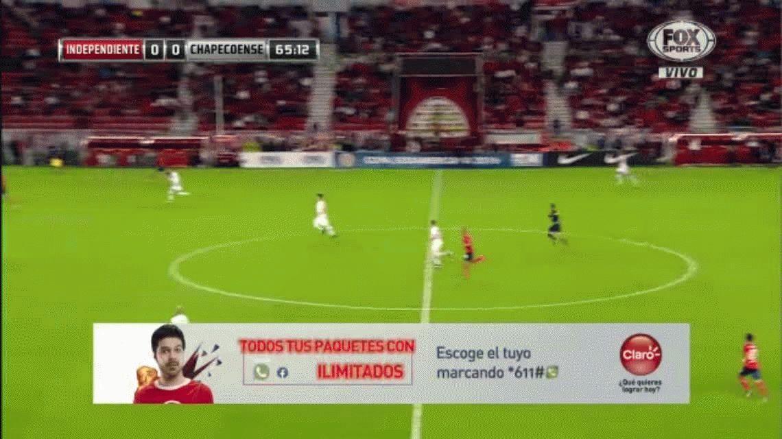 Mirá el gol cantado que erró Meza, el nuevo refuerzo de Independiente