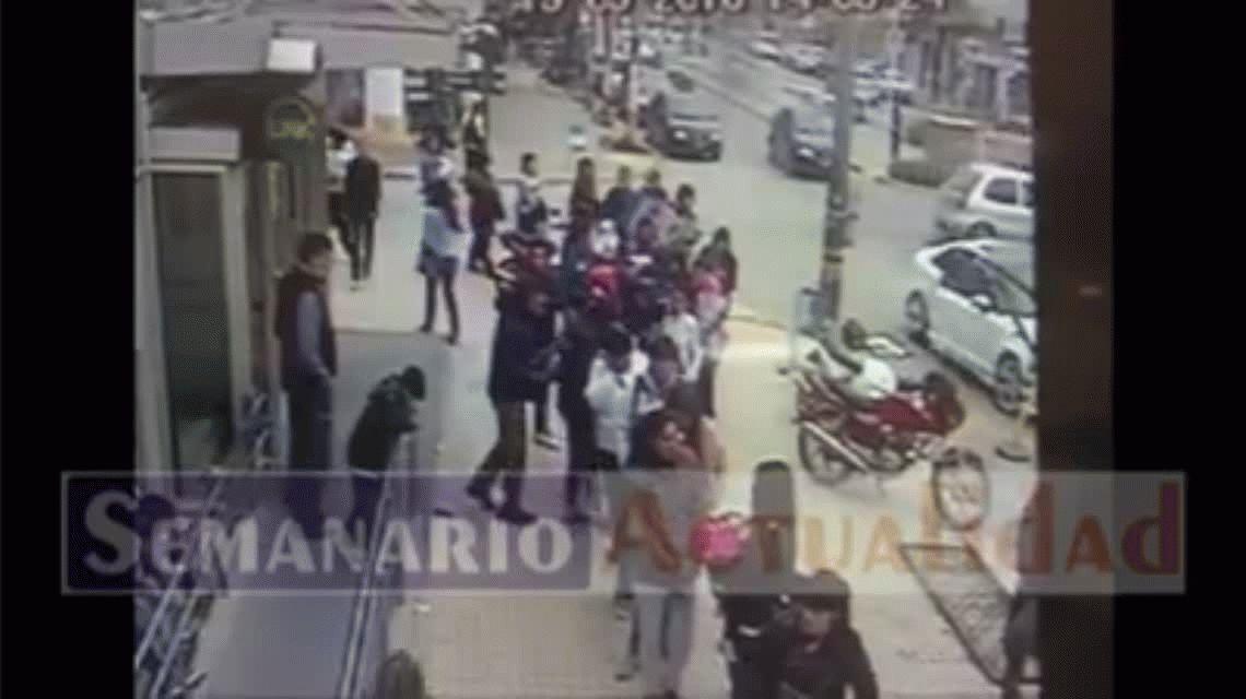 VIDEO: Así fue el asalto en un banco de General Rodríguez