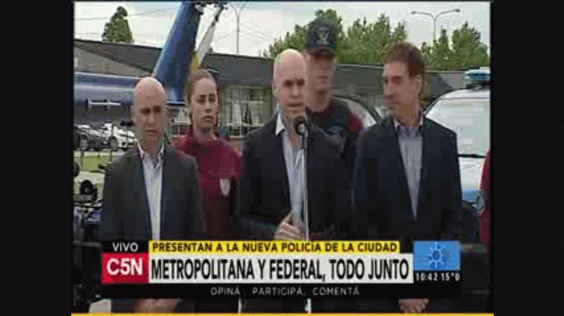 Larreta presentó la nueva policia de la Ciudad