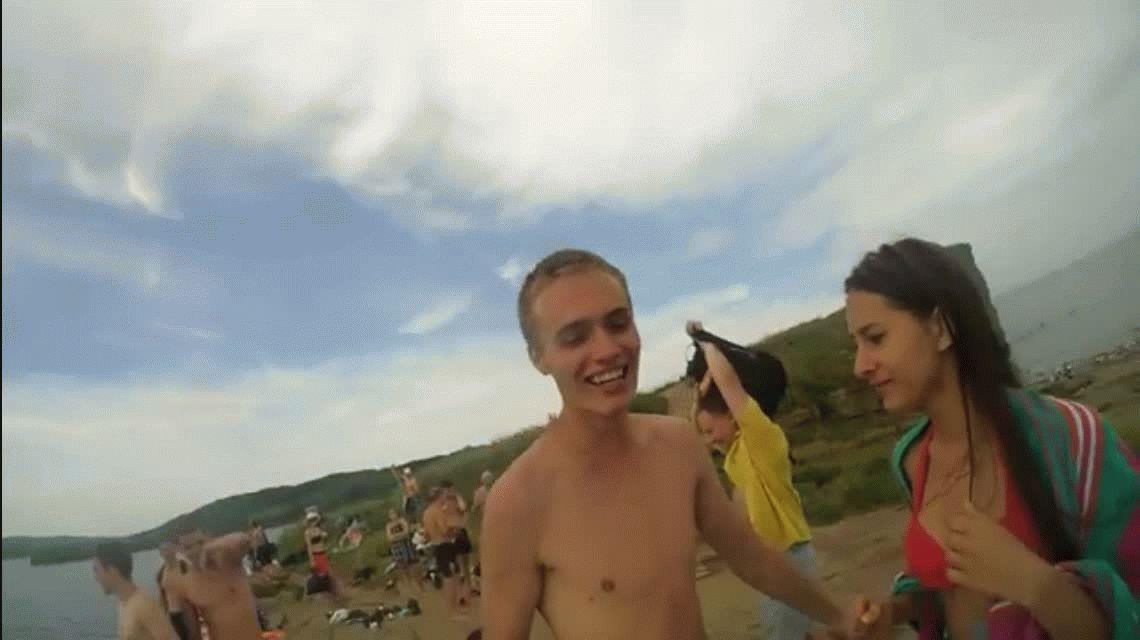 Encontró una GoPro en el mar y publicó el video de cómo se perdió