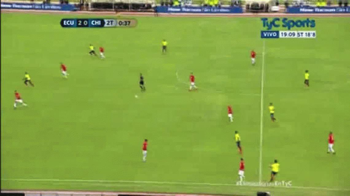 Gol Felipe Caicedo vs Chile Eliminatorias
