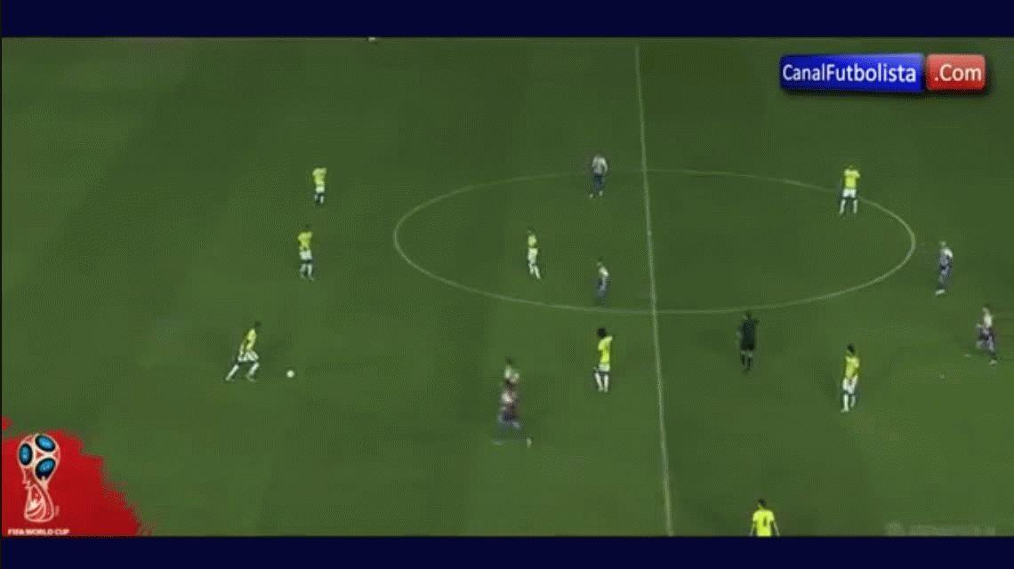 Edwin Cardona anotó el gol de la victoria de Colombia ante Paraguay en el minuto 90