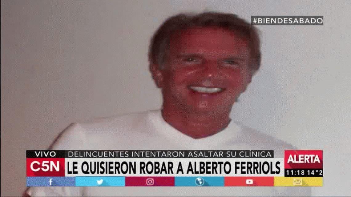 Alberto Ferriols persiguió a los tiros a un delincuente.