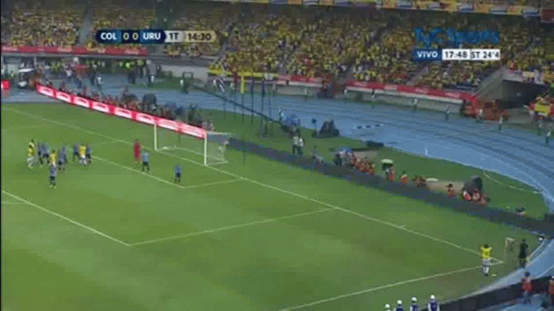 Colombia y Uruguay empataron en un partidazo