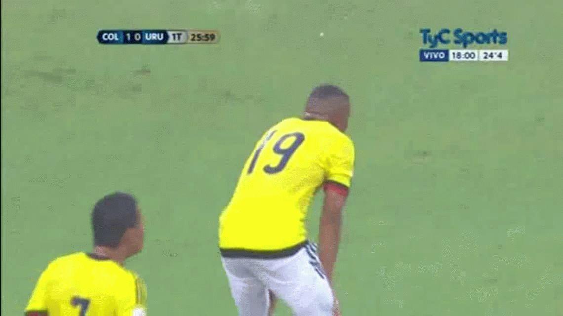 El Cebolla Rodríguez puso el 1 a 1 entre Uruguay y Colombia en Barranquilla