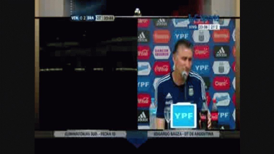 La conferencia de prensa de Edgardo Bauza tras la derrota de Argentina ante Paraguay en Córdoba