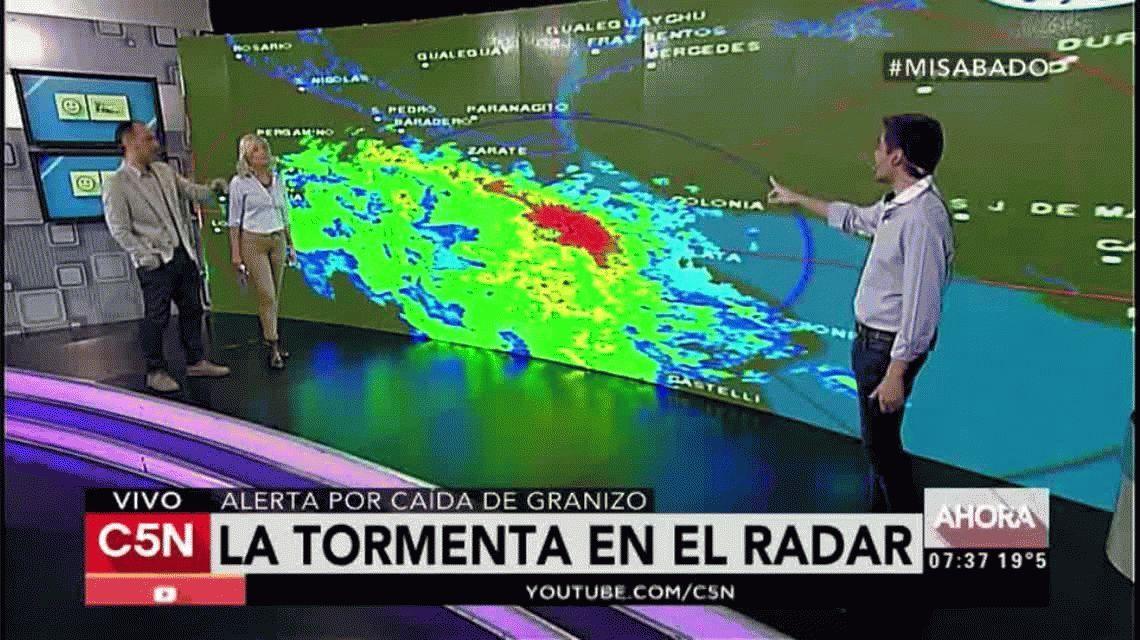 Alerta por tormentas fuertes en Capital y alrededores.