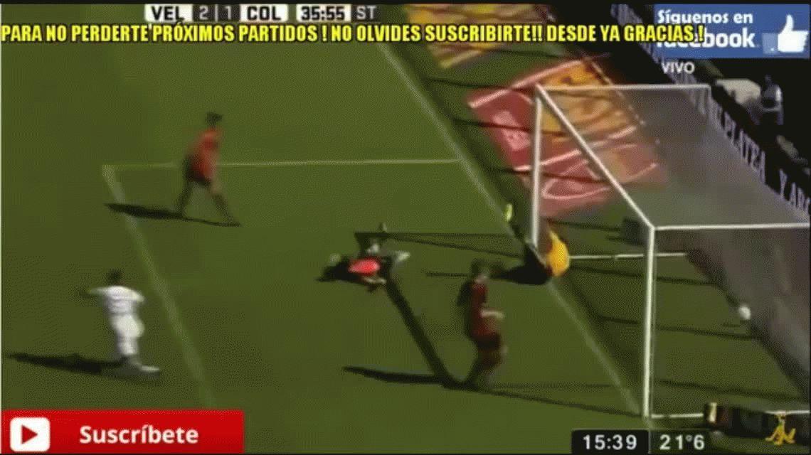 Diego Zabala marcó el gol de la victoria para Vélez ante Colón en el José Amalfitani