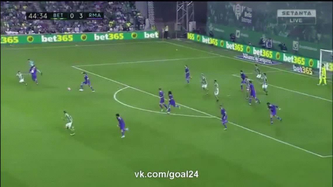 Isco anota el cuarto de la goleada de Real Madrid ante Betis como visitante