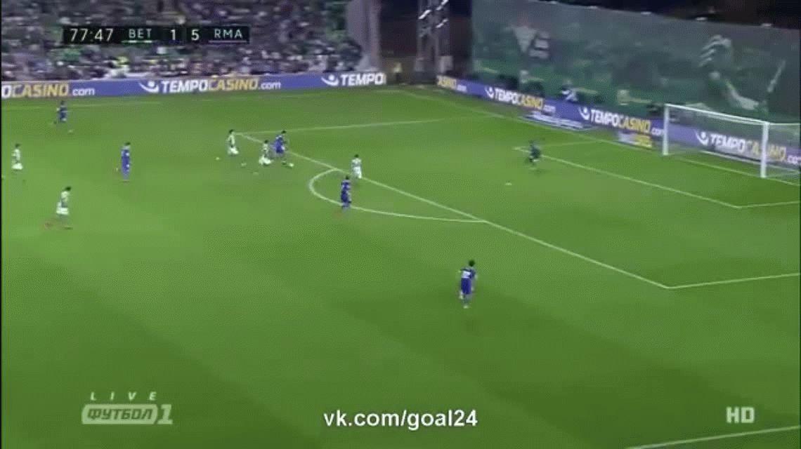 Cristiano Ronaldo anotó el sexto gol del Real Madrid ante el Betis