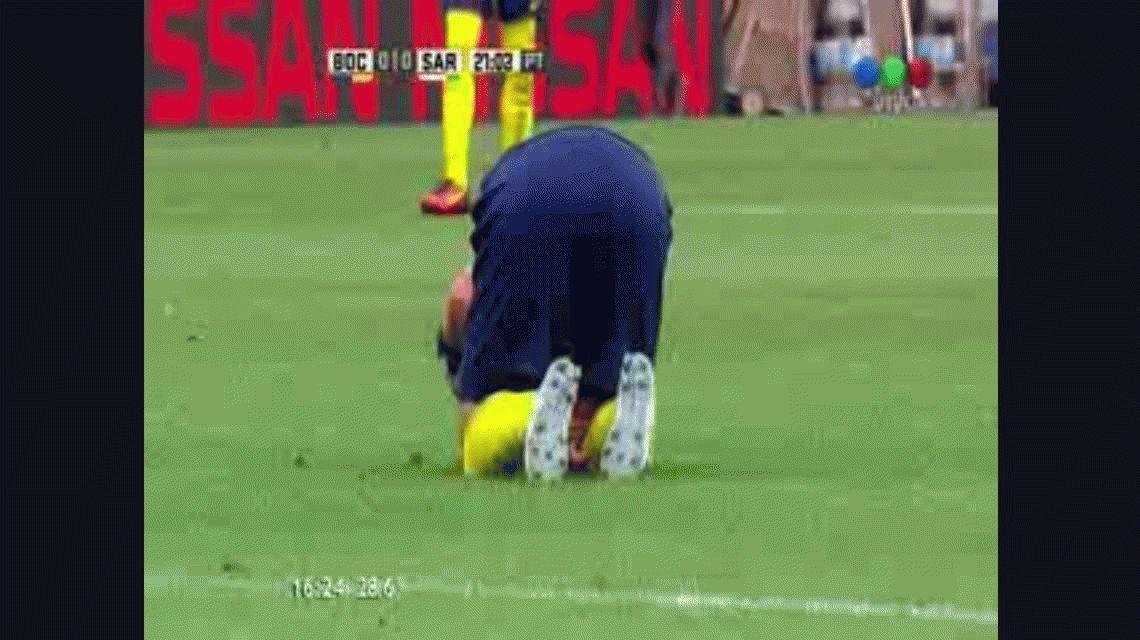 Preocupación en Boca: así fue la jugada en la que se lesionó Darío Benedetto