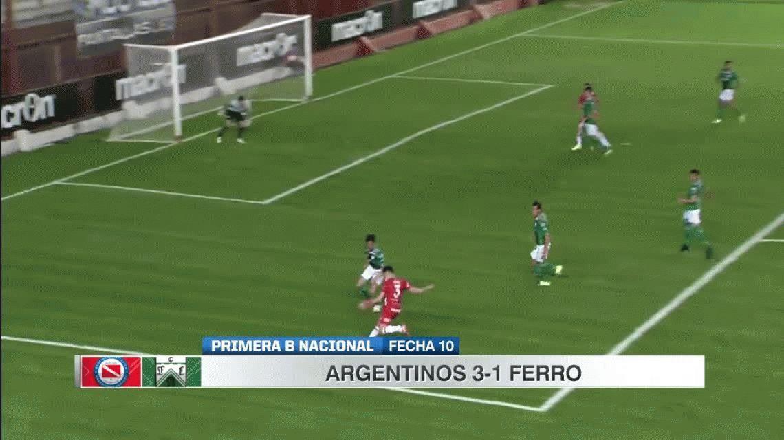Ferro cayó 3-1 con Argentinos y no pudo llegar a la punta