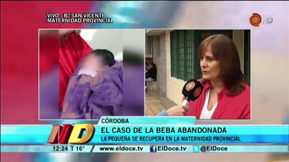 Desde Maternidad Provincial aseguraron que la bebase encuentra en muy buen estado. Gentileza eldoce.tv