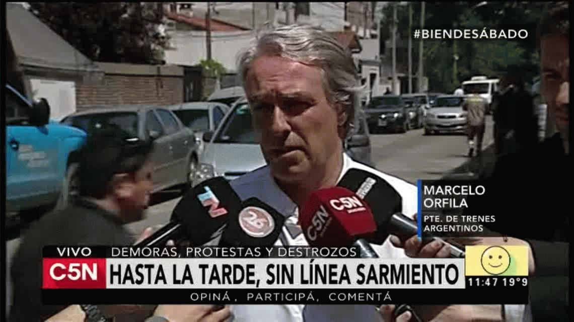 El servicio del Sarmiento comenzará a normalizarse a partir de las 14.30.