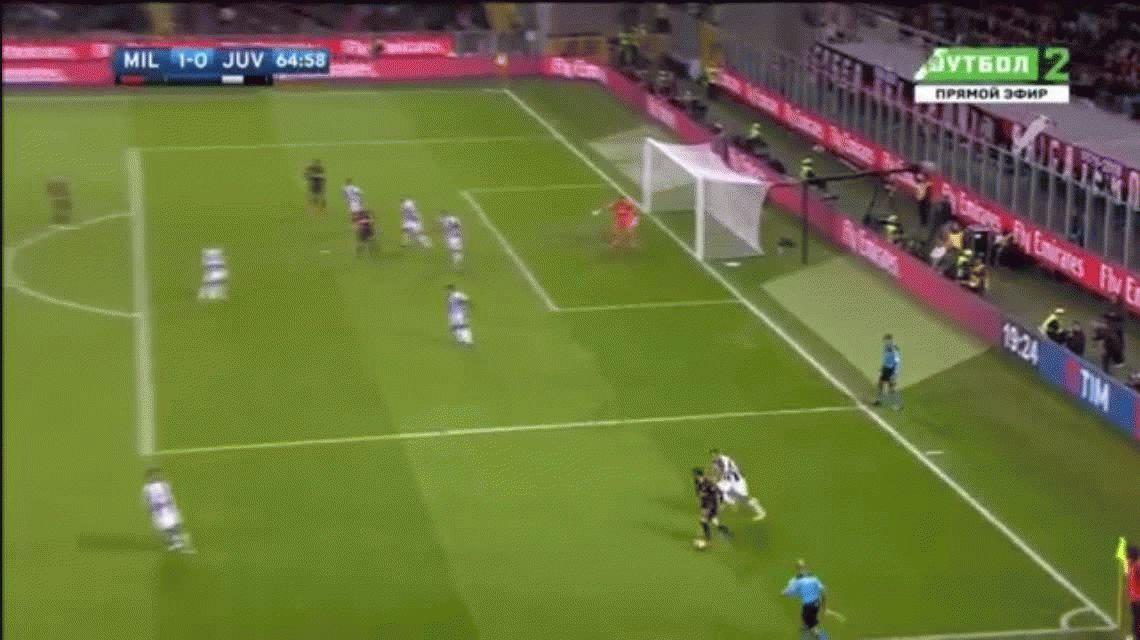Manuel Locatelli anotó un golazo para el Milan ante Juventus en San Ciro