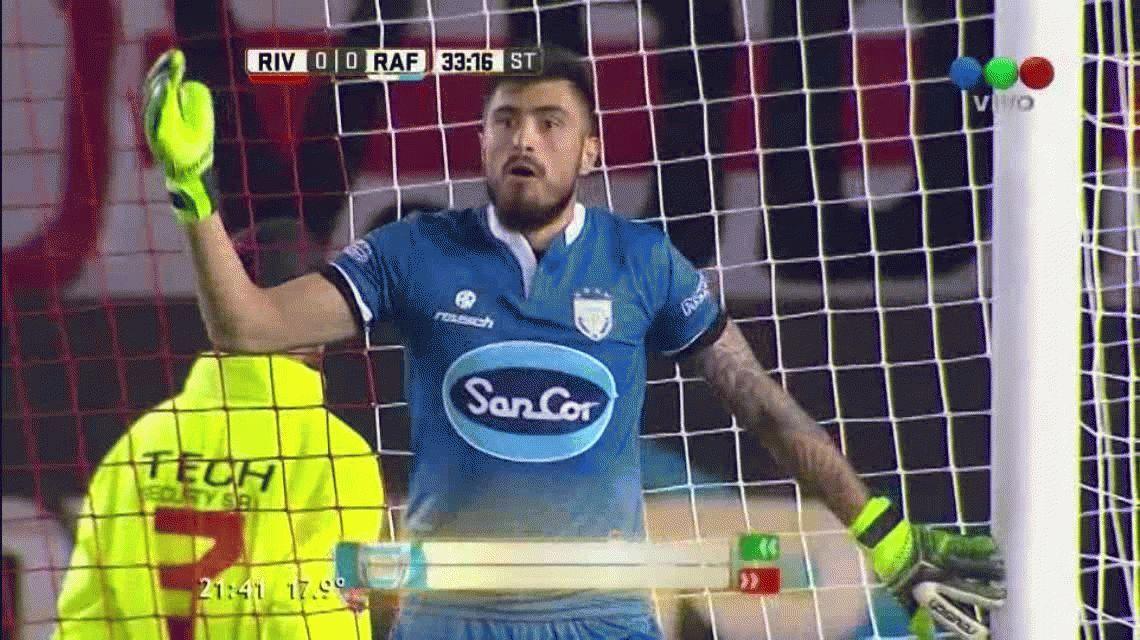 Andrés D´Alessandro abrió el marcador para River ante Atlético Rafaela en el MOnumental