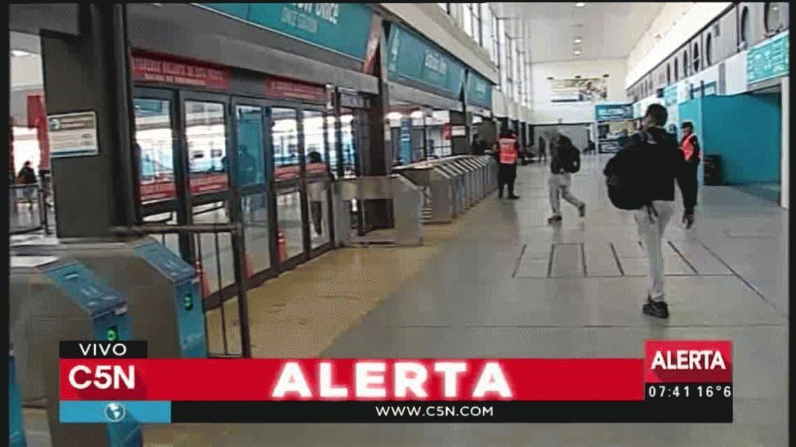 El tren Sarmiento volvió a funcionar