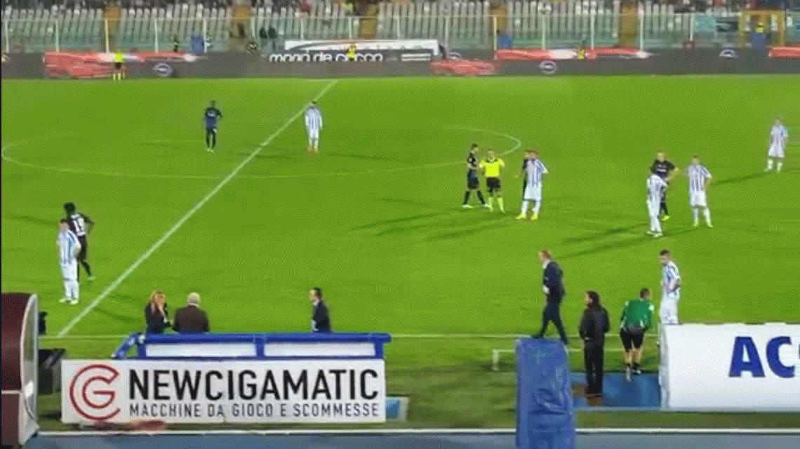 Un terremoto hizo sacudir un estadio en pleno partido de la Liga italiana