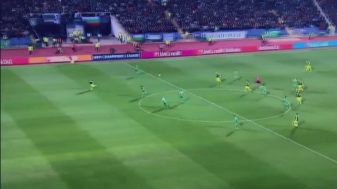 El alemán Mesut Ozil marcó un golazo espectacular en la victoria como visitante del Arsenal ante el Ludogorets de Bulgaria por la Champions League