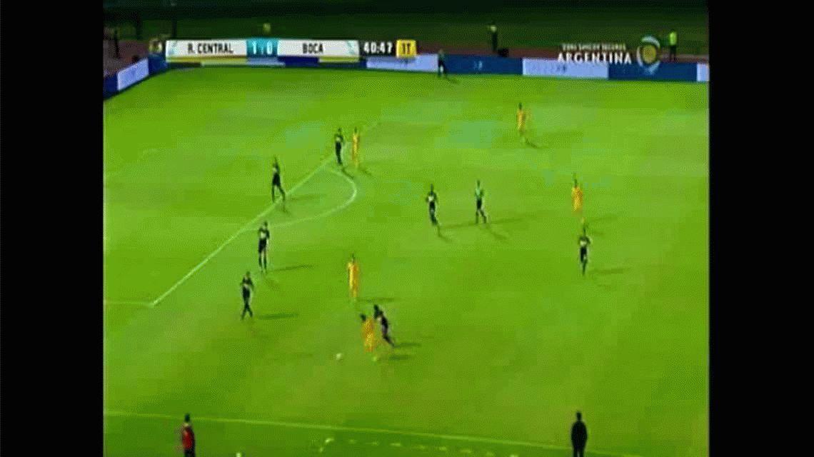 Germán Herrera marcó el segundo gol de Rosario Central ante Boca por Copa Argentina