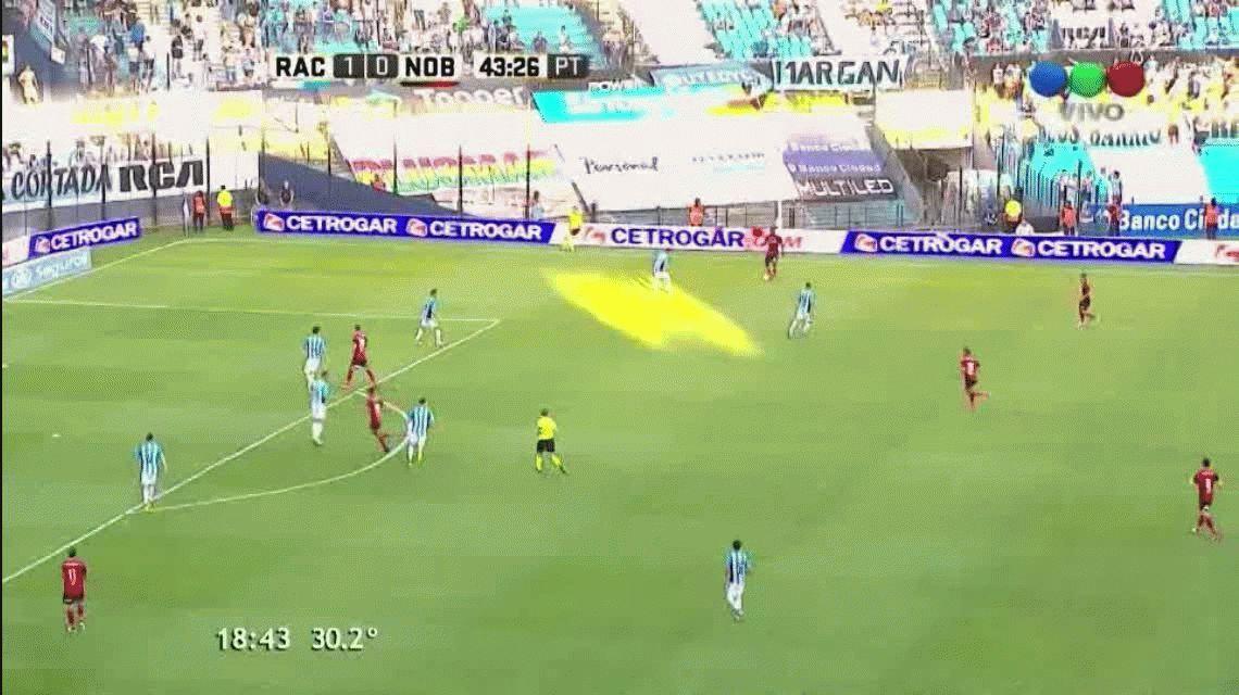 Mauro Formica marcaba el empate parcial entre Racing y Newells en Avellaneda