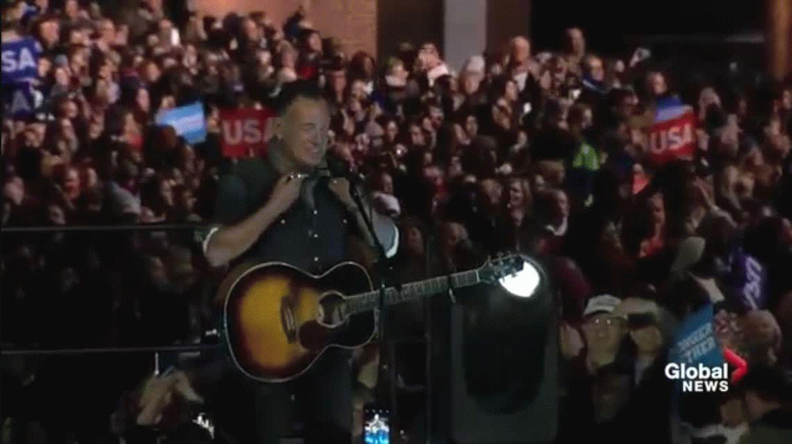 Hillary cerró su campaña con shows de Jon Bon Jovi y Bruce Springsteen y dijo que quiere ser la presidenta de todos