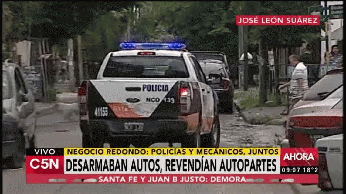 Cinco policías fueron detenidos por instalar un desarmadero en una comisaría.
