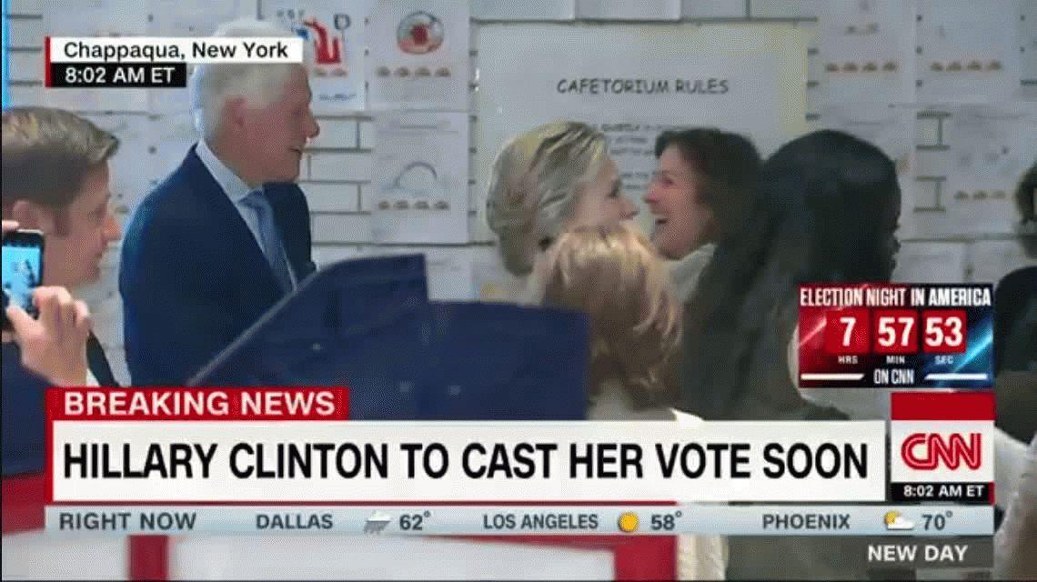 VIDEO: Así votó Hillary Clinton en Nueva York