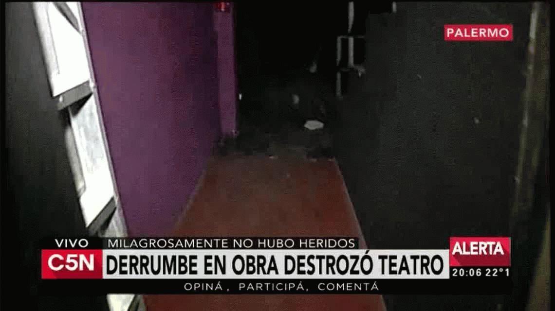 Piden ayuda para reparar el teatro destrozado por un derrumbe en Palermo