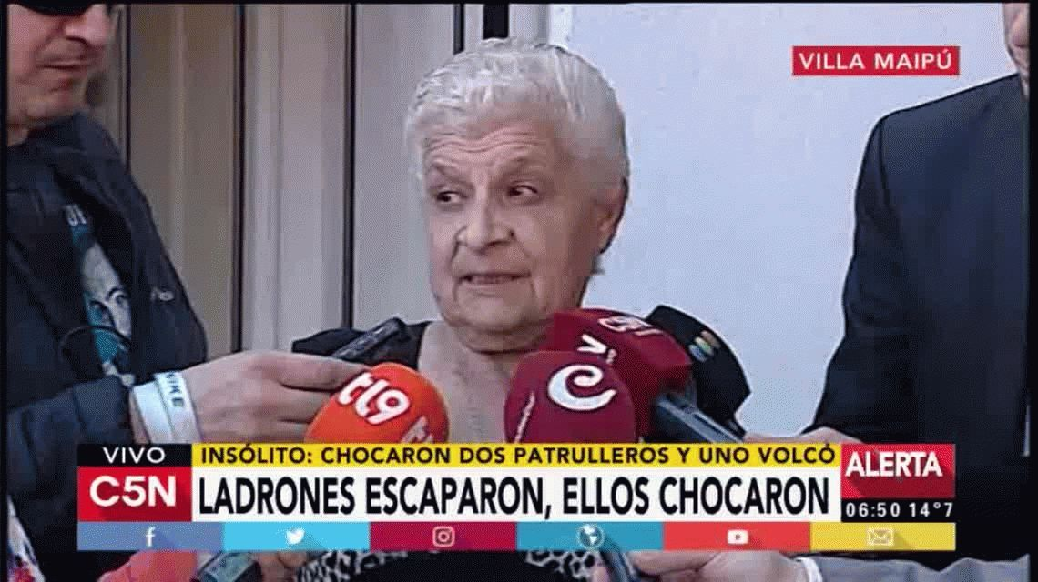 Persecución, choque y vuelco en Villa Maipú: hay tres policías heridos