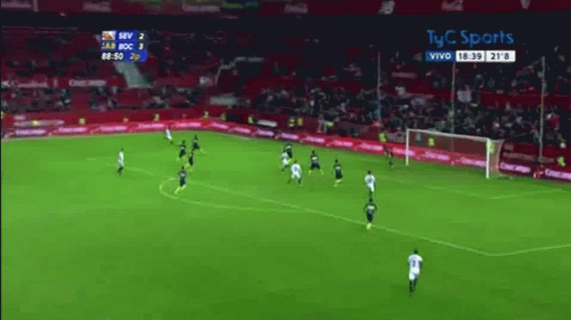 Con dos goles de Tevez, Boca le ganó al Sevilla en un amistoso muy atractivo