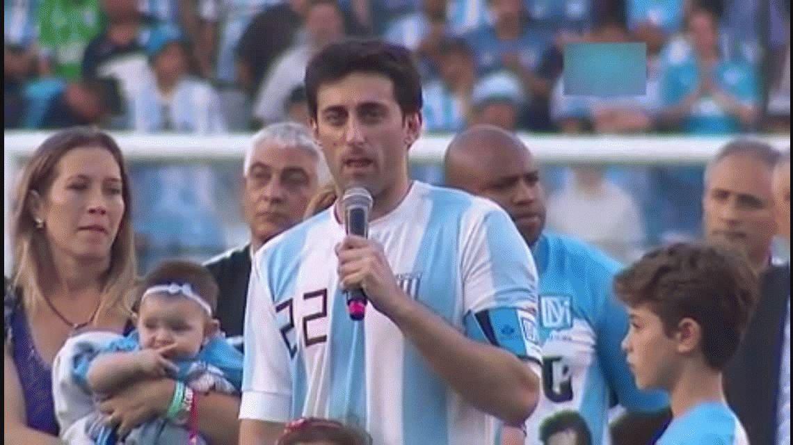 Diego Milito en su despedida. Video gentileza de ESPN