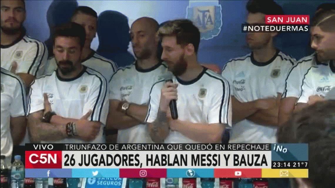 Hemos tomado la decisión de no hablar más con la prensa, anunció la Selección