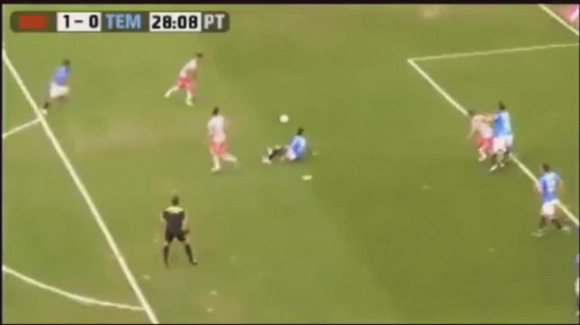 Diego Godoy anotó el segundo de Unión ante Temperley