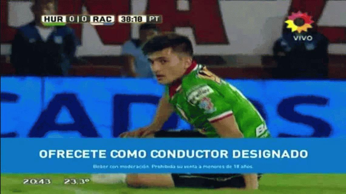 Lautaro Martínez marcó el primer gol de Racing ante Huracán en Parque Patricios