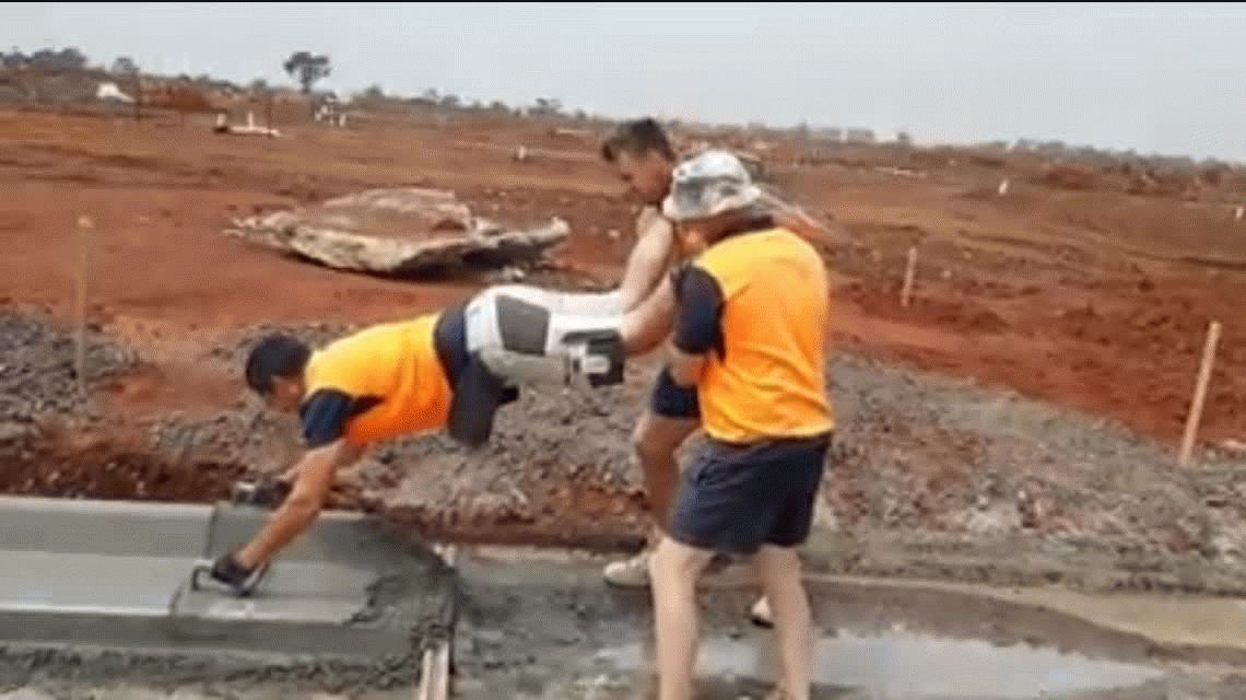 ¿La mejor técnica para trabajar con cemento? - Crédito:Facebook/Matt Dyer