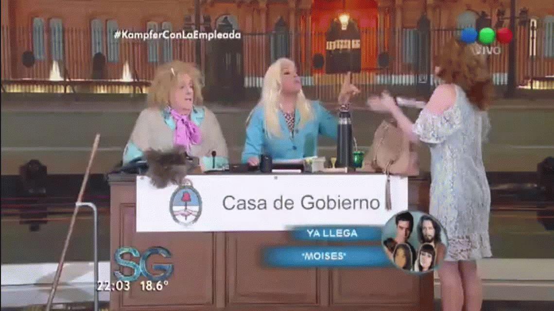 Después de los cruces, Agustina Kämpfer estuvo con Susana Giménez en La empleada