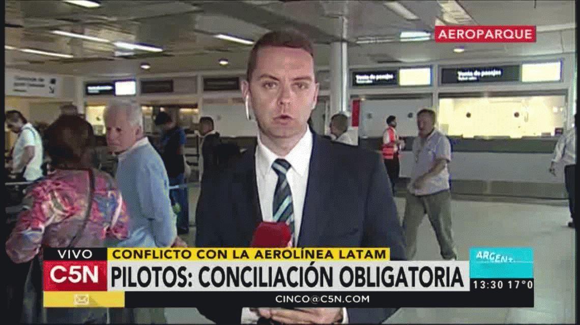 Dictaron la conciliación obligatoria en el conflicto de los pilotos de Latam