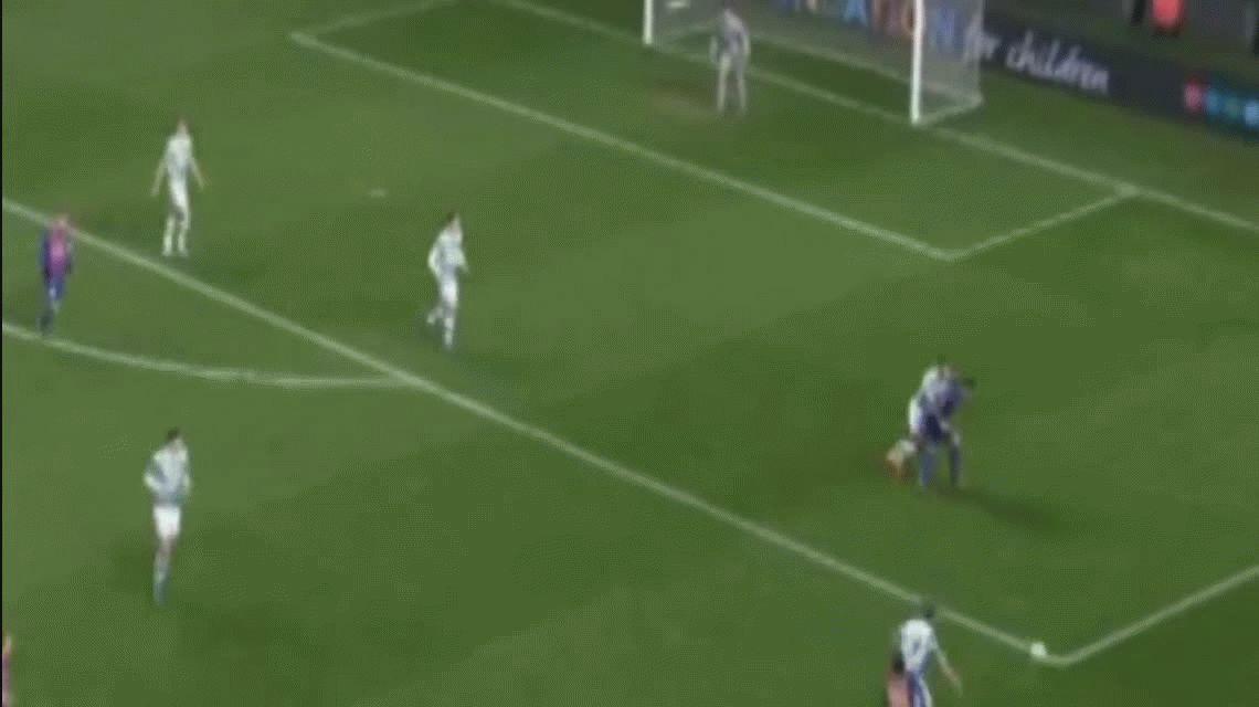 El segundo gol de Lionel Messi para Barcelona ante Celtic en Glasgow