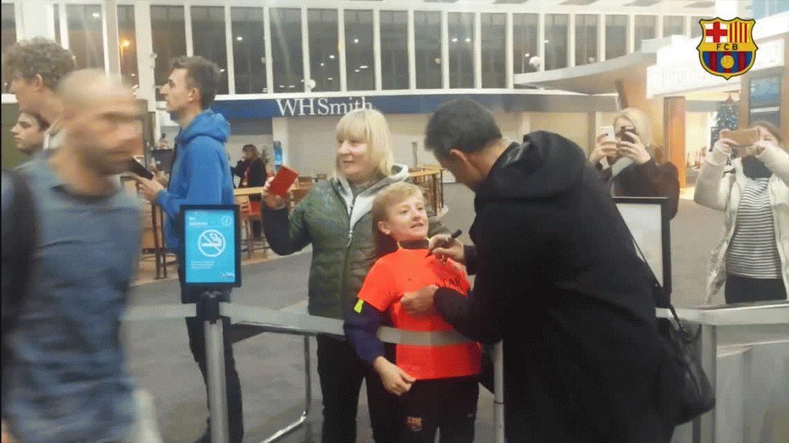 Mirá la imperdible reacción de un nene tras conocer a Lionel Messi
