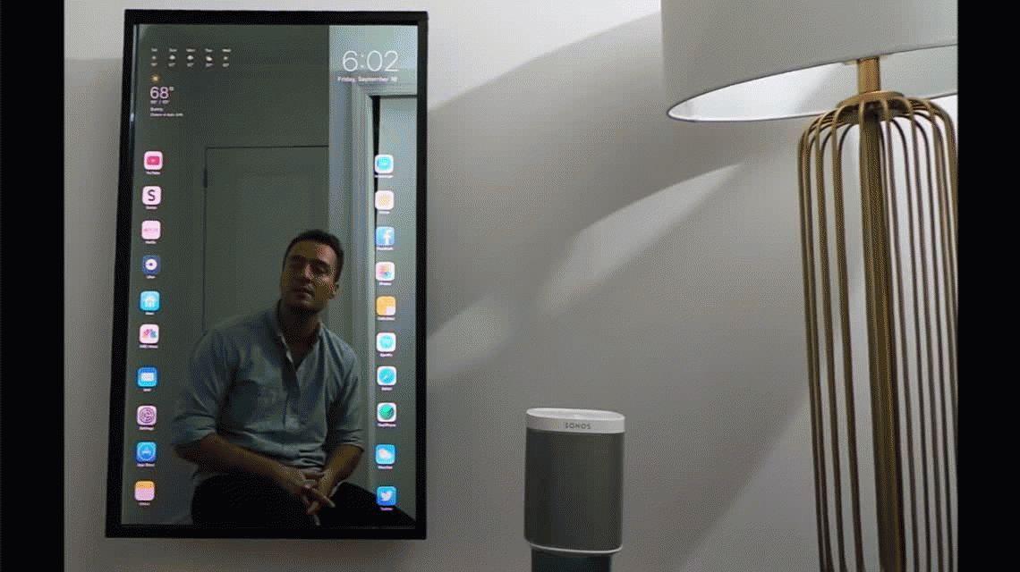 Un espejo inteligente que permite usar las funciones de cualquier teléfono