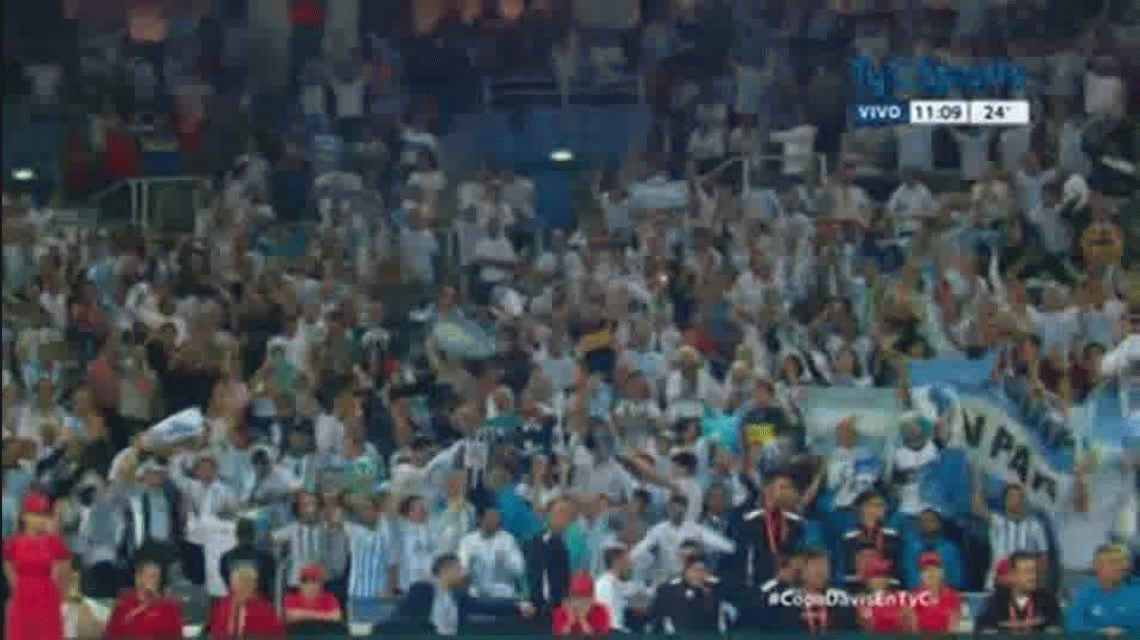 Copa Davis: Hinchas argentinos alentaron a Mayer con yacarés inflables