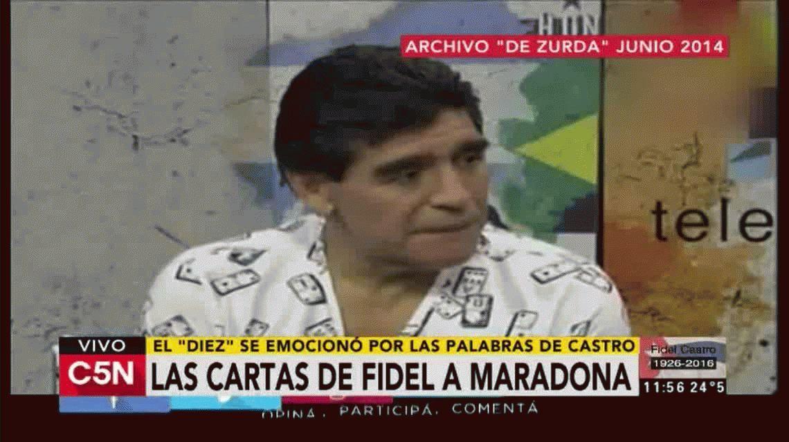 Las cartas de Fidel Castro a Diego Maradona