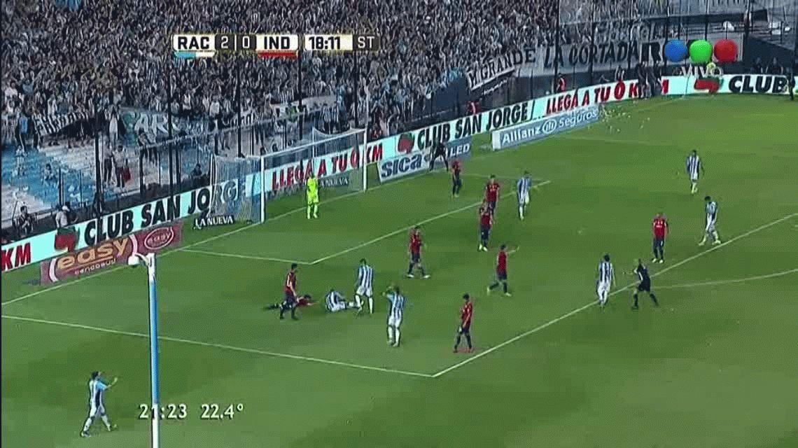 Racing goleó a Independiente en el clásico de Avellaneda